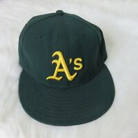 New Era Oakland Athletics A's Official On-Field Fitted Baseball Hat Men's 7 1/4