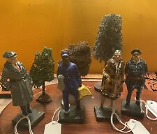 Lot (7) Vintage Lionel Train Figurines Made In Japan & Trees