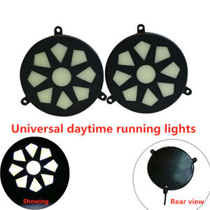 Universal 5W IP65 Pair of Car COB Daytime Running Light High-power driving Lamps