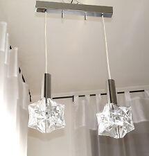 """Lámpara kinkeldey 60er 70"""" kaskadenlampe Kaskade cristal cromo mid CENTURY lamp"""