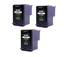 3PK NON-OEM INK FOR HP 94 C8765WN BLACK PSC 1600 1610 2350 2355 PhotoSmart 2600
