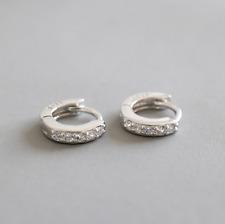 Unisex Sterling Silver Children Girl CZ Baby Huggie Hoop Earrings 1/5 inch A33