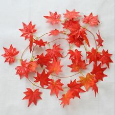 Fall Flower 1pcs Decor 2.4m Wedding Red Favor Silk Leaf Home Autumn
