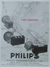 PUBLICITE PHILIPS POSTES SUR SECTEUR HAUT PARLEUR 2515 2514 2511 DE 1930 AD PUB