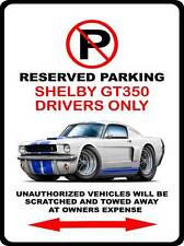 1965 1966 Shelby GT350 Mustang Muscle Car-toon No Parking Sign NEW