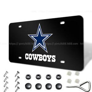 Dallas Cowboys Liscense Plate Aluminum Metal License Plate Car Fans Tag Cover