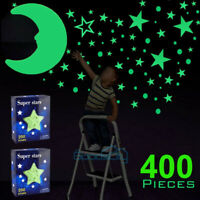 400x Glow in The Dark Stars and Moon Wall Stickers for Ceiling, Room Decor