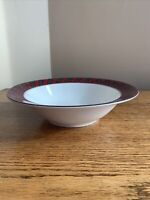 "Arita TARTAN PLAID 9-1/4"" Round Vegetable Bowl Serving Bowl: Excellent Condition"