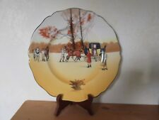 Royal Doulton Coaching Days Series Ware Scalloped Cookie Plate