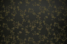 ORIENTAL FLORAL PRINT LIGHT WEIGHT BLACK SOFT FABRIC STRETCH SILK LOOK & FEEL