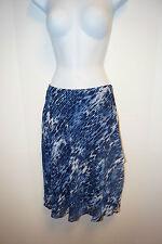JONES NEW YORK Stardust Blue Black 2 Tier Chiffon Lined Long Skirt 6P Womens $99