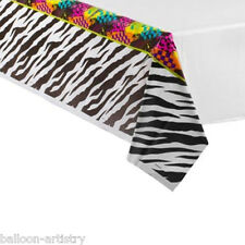 "54""x102"" Totally 80's Disco Themed Birthday Party Disposable Plastic Table Cover"