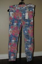 Women's Rue21 Rue 21 Ankle Length Floral 5 Pocket Design Pants, 11/12, MSRP $54