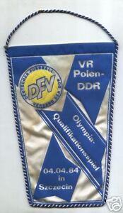 Fanion Qu olympique. 04.04.1984 Pologne - DDR en Szczecin