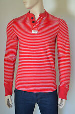 NEW Abercrombie & Fitch Mount Marshall Red Striped Henley T-Shirt Tee XL RRP £68