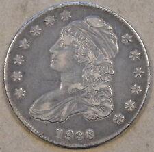 1836 Capped Bust Half Nice Original Better Grade Coin