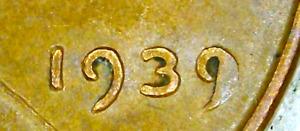Lincoln Wheat Cent Error Coin: 1939 Cud? - Free Ship     (Lot CO-36)