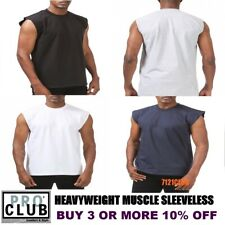 PRO CLUB SLEEVELESS T SHIRTS MENS HEAVYWEIGHT MUSCLE TANK TOP BIG AND TALL M-7XL