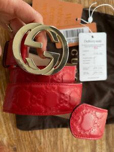 LUXUS Original Gucci Gürtel, Gr. 85-95cm 😍 Rot💃 TOP, mit Box, Echtheitszertif