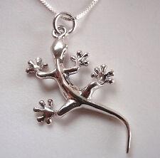 Sticky Feet Gecko Necklace 925 Sterling Silver Corona Sun Jewelry