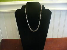 "Vintage Anne Klein Pewtertone Metal Filigree Chain Link 17"" Necklace"