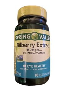 Spring Valley, Bilberry Extract, 150mg per capsule, Eye Health, Vegetarian