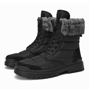 Winter Men Snow Boots Fur Plush Warm Waterproof Ankle Boots Outdoor Hiking Boots