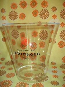 Ancien SEAU A CHAMPAGNE TAITTINGER REIMS en PVC Ice Bucket Wine Glace French Vin