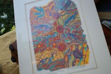 Original Silk Screen Print by Doris Gingingara Aboriginal Australia Billabong