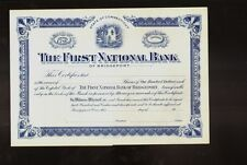 The First National Bank of Bridgeport CT  blank/ not issued