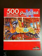 PUZZLEBUG 500 PIECE PUZZLE MERRY CAROUSEL BRAND NEW HORSES