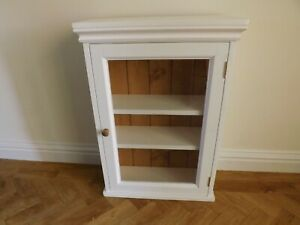 Painted pine glazed wall unit made by our own carpenters. SALE PRICE
