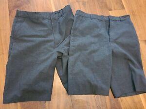 2x Boys Grey School shorts, Age-13-14, M&S 164cm slim fit