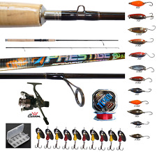 kit canna spinning carbonio prestige mulinello spoon accessori pesca trota lago