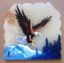 Vintage Original Bald Eagle 'Marble Slab' Souvenir Plaque