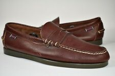 Sebago Docksides Mens Penny Loafers Boat Shoes Slip On Brown Leather Size 11 M