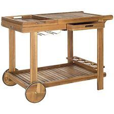 Safavieh PAT7010A Orland Tea Trolley Teak Look NEW