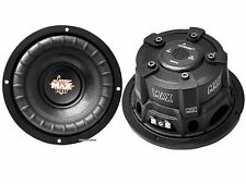 "PAIR Lanzar MAXP64 6.5"" 1200W Small Enclosure 4 Ohm Subwoofers (600W each)"
