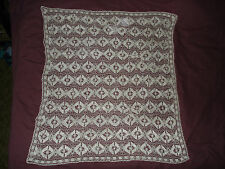 #386  Beautiful Vintage Hand Made Tablecloth  37''/33.5''(95cm/85cm)