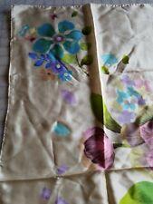 Vtg Silk Scarf Sally Gee Floral Excellent