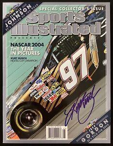 Kurt Busch Signed Sports Illustrated 12/8/04 No Label Nextel Cup Autograph JSA