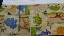 "Bed Skirt Colorful Cute Dinosaurs for Kids Twin Size 38"" X 75"" X 14"" B"