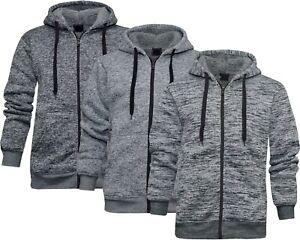 Mens Sherpa Lined Hoodie Full Zip Grindle Hooded Winter Warmer Jacket M - 3XL