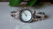 Noa Zuman Israel Wrist Watch Sterling Silver 925 Bracelet Rose Band