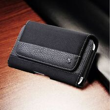 Rugged Horizontal Cell Phone Pouch Case Holder Carrying Holster Belt Clip Cover