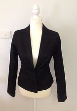 REVIEW Textured Black Lined Blazer - Size 8