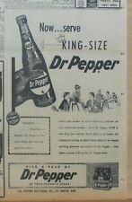 1956 newspaper ad for Dr. Pepper - King Size bottles, answer to refreshment