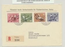LIECHTENSTEIN 1954 SCARCE SOCCER SET ON REG. FIRST DAY COVER (SEE BELOW)