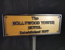 Hollywood Tower Hotel Inspired Replica Established Plaque / Sign - Disney Home