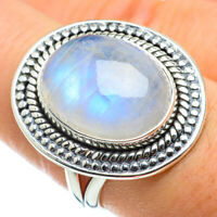 Rainbow Moonstone 925 Sterling Silver Ring Size 8 Ana Co Jewelry R43729F